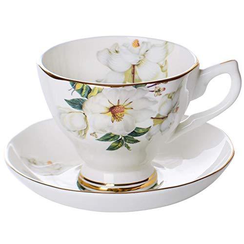 Noblik Fine Knochen Keramiken Kaffee Tasse Untertasse Lustiger Mode Entwurf Kaffee Tasse Wellen Tasse Gericht, Wei?E Reis Baumwolle