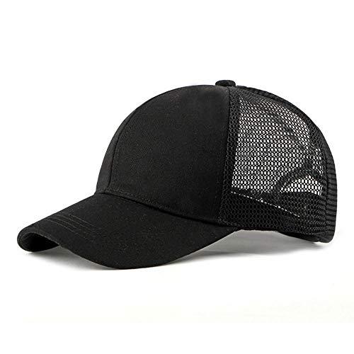 YanLong Baumwoll-Flanell-Trucker-Mütze mit verstellbarem Netzrücken Justin Bieber SOLID Black Baseball Caps@Schwarz