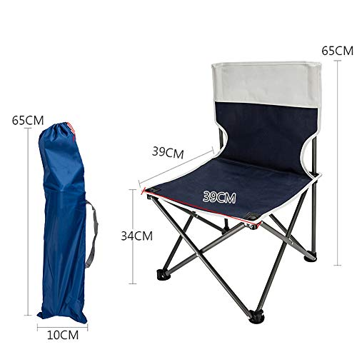 ASDFGH Portable Outdoor Stuhl faltbar Campingstuhl, Ultraleichter Kompakt Sport Outdoor-stühle Lounge-strandkorb Mit tragebag Zum wandern Fishing-E