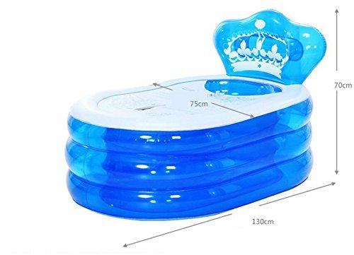 Aufblasbare Badewanne Verdickte erwachsene Wanne Faltende Badewanne Kinder Bad Badewanne Bad Badewanne Badewanne ( farbe : Blau , größe : 130*75*70cm )