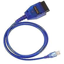aquiver Auto diagnóstico Cable USB KKL VAG-COM 409.1OBD2II OBD herramienta de diagnóstico de Volkswagen/Audi/Seat/Skoda