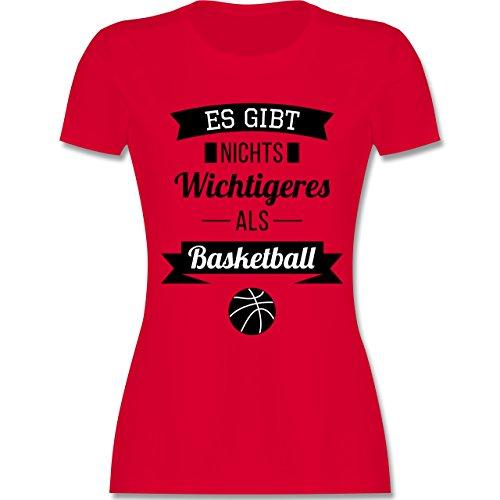 Basketball - Es gibt nichts Wichtigeres als Basketball - tailliertes Premium T-Shirt mit Rundhalsausschnitt für Damen Rot