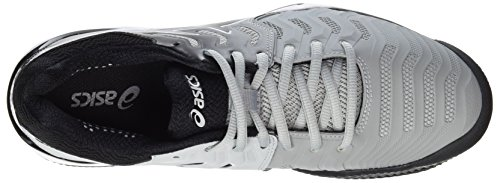 Asics Herren Gel-Resolution 7 Clay Tennisschuhe Mehrfarbig (Mid Grey/black/white 9690)