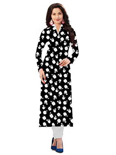 Crazy Trendz Kurtis Gowns for women party wear (lehenga choli for wedding function salwar suits for women gowns for girls party wear 18 years latest sarees collection 2018new design dress for girls designer sarees new collection today low price new gown for girls party wear)Kurti ( Women's Clothing Kurti for women latest designer wear Kurti collection in latest Kurti beautiful bollywood Kurti for women party wear offer designer Kurti, Neerza Black Kurtis  available at amazon for Rs.296