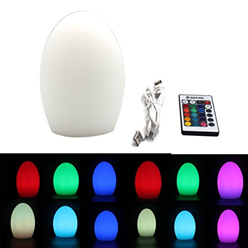 Glovion LED tragbar Bettseite Umgebungs Stimmung Lampe 18 CM Egg