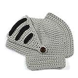 Roman Kostüm und Verkleiden Ritter Helm Visier Crochet Knit Beanie Hut Winter Maske Kappe für Männer Frauen