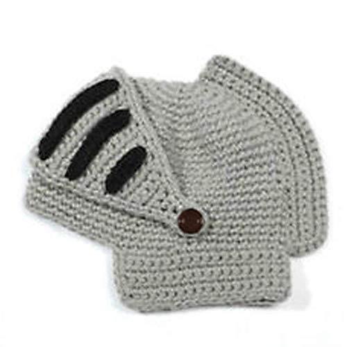Roman Kostüm und Verkleiden Ritter Helm Visier Crochet Knit Beanie Hut Winter Maske Kappe für Männer ()