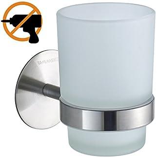Wangel Portacepillos de Dientes Incluye Vaso de Cristal, Baño Cepillo de Dientes Pasta de Dientes Organizador