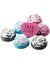 Anjou Bath Bomb Gift Set, 6 x 100g Rose Shaped and 1 x 90g Heart Shaped Bombs for Bubble Bath with Rose, Jasmine and Sandalwood Scents - Ideal Gift Kit for Girlfriends, Women and Moms