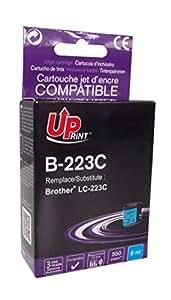 5 x BROTHER - LC-223 - CYAN - Grande Capacit - Economique - QUALITE quivalente  la cartouche d'origine - Garanties et Assistance - Le Meilleur rapport Qualit/Prix - Expdi depuis la FRANCE