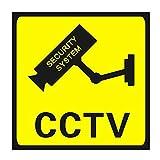 Qewmsg Quadratische CCTV-Überwachungssicherheits-24-Stunden-Überwachungskamera Warnaufkleber Warnung Wandaufkleber Wasserdichte Aufkleber