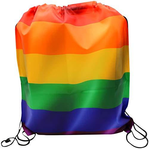 WABISABI DREAMS Gay Pride LGTB Rucksack   Regenbogen-Stolz Homosexuell   Regenbogen   Rucksack mit Kordelzug