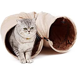 Speedy Pet PAWZ Road Cat Tunnel Crinkly Fun 2 Agujeros Pet Túnel 120x30cm