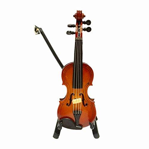MagiDeal Escala 1/12 Juguete Violín de Madera Instrumento de Música en Miniatura con Caja Accesorios de Dollhouse