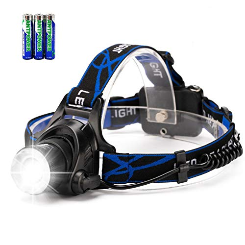 41i1eOq9kjL - Zoomable LED Head Torch Headlamp, HFAN 800 Lumens Head Torches with 3 Light Modes