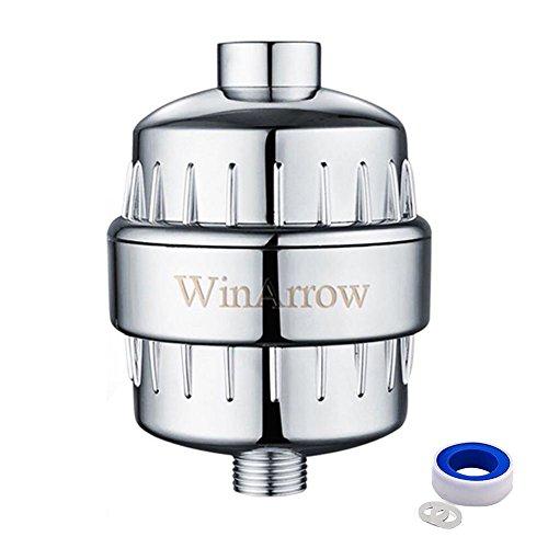 WinArrow Hochleistungs-Universal-Duschfilter Keine Verschmutzung reduziert Chlor mit austauschbarer Filterpatrone Lassen Sie Ihr Haar und Haut gesünderes freies Teflon-Band - Chrom Test