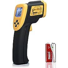 Etekcity® Lasergrip 800 Termómetro Infrarrojo Digital Láser, -50°C a 750°C, Pistola de Temperatura IR Sin Contacto, Coeficiente de Distancia al Punto 16:1, con LCD Retroiluminación y Batería 9V Amarrillo/Negro