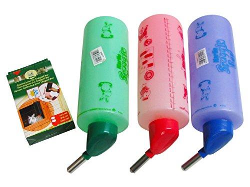 4er Set Trinkflasche Kaninchentränke Snuggle Bar 1000ml Tränke für Nager Kaninchen Hase inkl ThermoCover von KARLIE