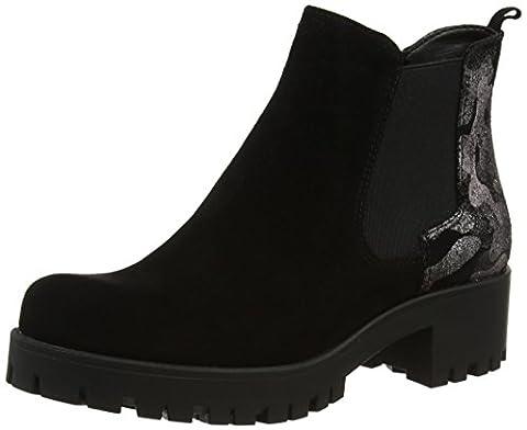 Tamaris Damen 25435 Chelsea Boots, Schwarz (Blk/Blk Metal), 40