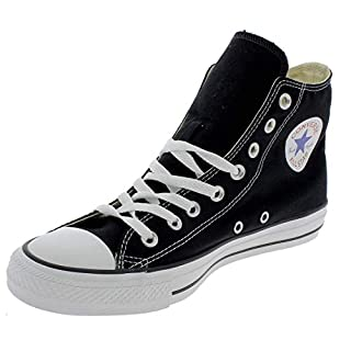 Converse Unisex-Adult Chuck Taylor All Star Hi-Top Trainers, Black- 8 UK