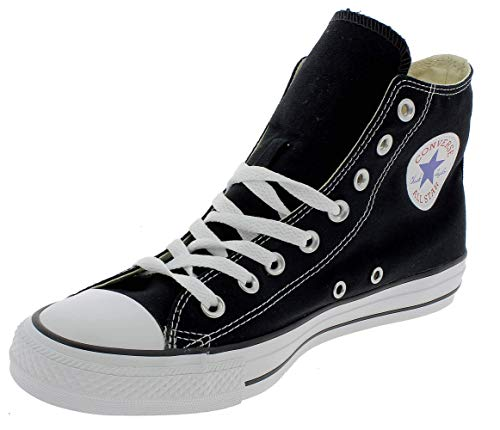Converse Chuck Taylor All Star Hi, Zapatillas Altas Unisex adulto, Negro (Black/White), 45 EU