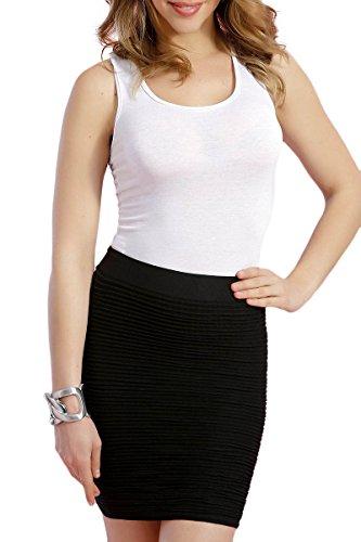 INFINIE PASSION - Broderie à sequins - Débardeur sexy blanc Blanc