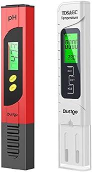 Dustgo 2-en-1 Testeur pH Mètre électronique&TDS Mètre Testeur de qualité de l'Eau TDS pH EC Températur