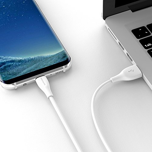 UNBREAKcable USB 3.0 Type C Cable - 3.3ft High Speed USB C Charger Cable Compatible with Samsung Galaxy S10/S9/S8 Note 9/8, Huawei Mate 20/10 P20/P10, Google pixel, Nexus 6P - White Img 4 Zoom