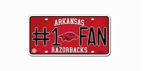 Arkansas Razorbacks License Plate - #1 Fan by CAS