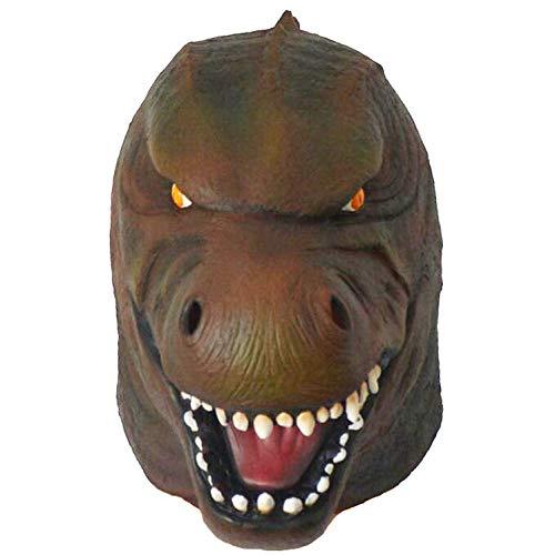 Godzilla Maske - SHIYAREN Halloween-MaskeDinosaurier Maske Tier Latex Kopfbedeckung