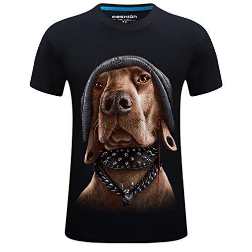 Top Bluse Männer Neue Sommer Gedruckt Beiläufige Kurze Größe Rundhals T-shirt Tops Für Vater Geschenke