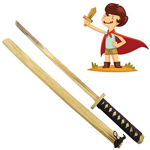 Marannashop Katana Giocattolo Spada Legno con Fodero Cosplay Spada Samurai Ninja Bambini Divertimento Idea Regalo Giocare Battaglia Giochi di Ruolo
