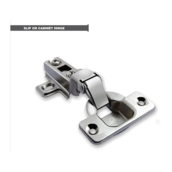 Godrej Galvanized Steel Slip On Auto Closing Concealed Hinges for Full Overlay Doors - 2 Holes Panel (Thickness 15-22mm) - Pack of 10 Pairs
