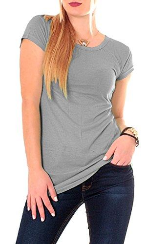 Easy Young Fashion -  T-shirt - Donna Grigio medio