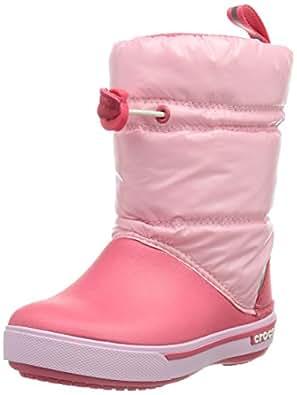 Crocs Crocband Iridescent Gust Boot Kids, Unisex-Kinder Warm gefüttert Gummistiefel Halbschaft Stiefel & Stiefeletten, Pink (Ballerina Pink/Poppy 6GE), 22/23 EU