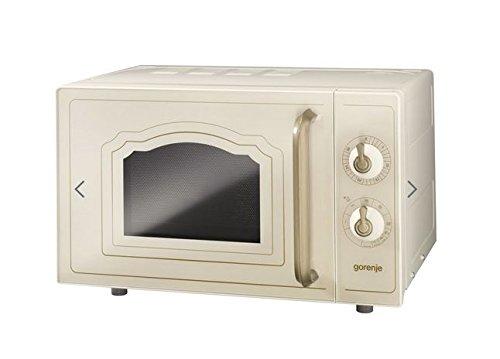 Gorenje MO 4250 CLI Stand-Mikrowelle mit Grillfunktion / 700 W / Garraum 20 L / elfenbein / Classico Collection
