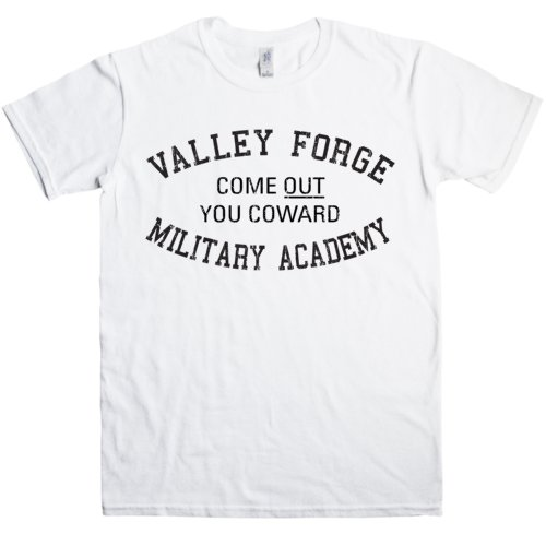 Refugeek Tees - Herren Valley Forge T Shirt - XX-Large - White Valley Forge Music