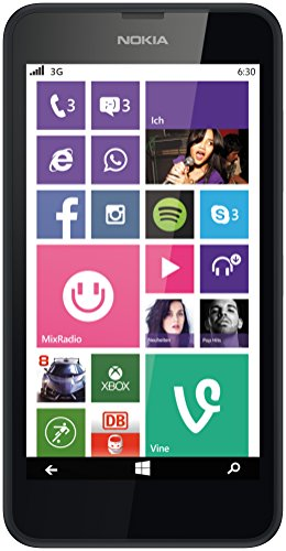 le-SIM Smartphone (4,5 Zoll (11,4 cm) Touch-Display, 8 GB Speicher, Windows 8.1) schwarz ()