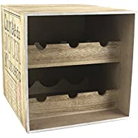 Totally Addict kv7210 Humidor Vino 6 Botellas, Madera, marrón/Negro, 30 x 33,5 x 30 cm