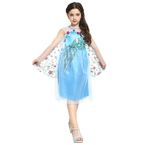 Kind Königin Kostüm Weiße - Katara 1718 - Eisprinzessin Königin Elsa Mädchen Ball Festkleid Kinder-Kostüm
