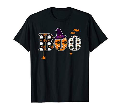 Halloween Shirt Hexe Geschenk Boo Damen Herren