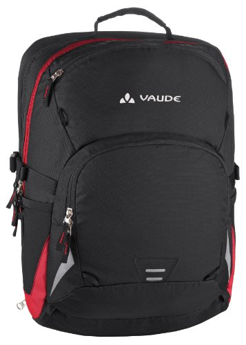 Vaude, Borsa Cycle, 46 x 31 x 22 cm, Multicolore (black/red), 46 x 31 x 22 cm