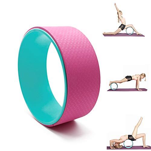 Massage-Yoga-Rad - Robuste, Komfortable ABS- Und TPE-Rückenrollen Und -Tragen Für Verbesserte Balance, Perfektes Stretching Und Verbesserte Rückenbeugung,Pink
