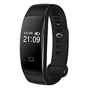 41i1oWRI7jL. SS300  - Fitness Tracker Heart Rate Monitor Pedometer Smart Bracelet Bluetooth 4.0 Smart Fitness Band and Activity Tracker Smartwatch
