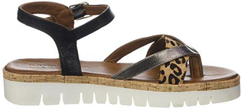 Inuovo 7913, Sandales Bride Cheville Femme Multicolore (Pewter Leopard Black)