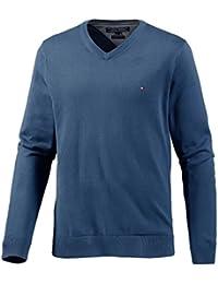 Tommy hilfiger homme v-pullover l (bleu)