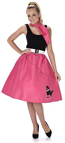 Fuchsiafarbenes 50er Jahre Kostüm für (Röcke Für Erwachsene Pudel)