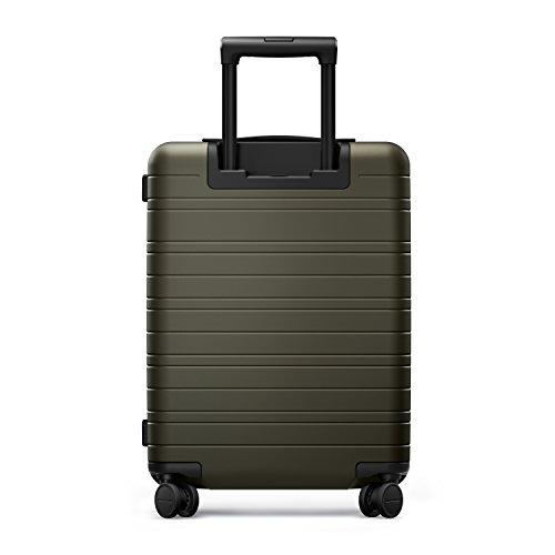 HORIZN STUDIOS H5 Handgepäck | Kabinen Trolley Koffer | Hartschale 55 cm, 35 L, mit 4 Rollen und TSA Schloss, Olivgrün (Dark Olive) - 9