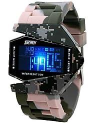 Fenkoo Hombre Reloj Militar Digital LED / LCD / Calendario / Cronógrafo / Resistente al Agua / alarma Banda Múltiples Colores Marca-
