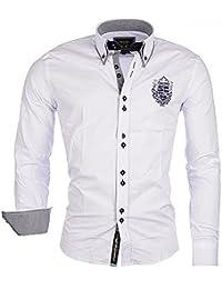 CARISMA Brandneu !!! Designer Herrenhemd von Weiß Uni CRM8261